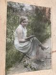 1934 Девушка с книгой Цветы, фото №5