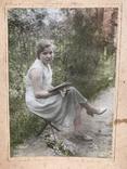 1934 Девушка с книгой Цветы, фото №7
