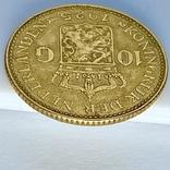 10 гульденов. 1925. Королева Вильгельмина. Нидерланды (золото 900, вес 6,70 г), фото №9