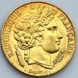 20 франков. 1851. Республика. Франция (золото 900, вес 6,45 г), фото №5