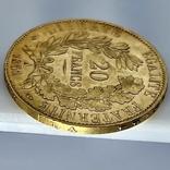 20 франков. 1851. Республика. Франция (золото 900, вес 6,45 г), фото №7