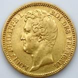 20 франков. 1831. Луи-Филипп I. Франция. (золото 900, вес 6,39 г), фото №4