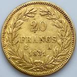 20 франков. 1831. Луи-Филипп I. Франция. (золото 900, вес 6,39 г), фото №5