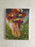 """Картина холст, масло """"Полет цветов"""" Абстракция. 40 х 30 см., фото №3"""