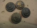 Пуговицы с якорем 4-шт., фото №3