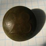 Пуговица полковая нижних чинов РИА с номером 28, фото №2