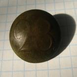 Пуговица полковая нижних чинов РИА с номером 28, фото №3