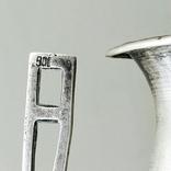 Кубок серебро 800 проба клеймо, старинный., фото №7