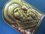 Иконка Казанская БМ серебро., фото №4