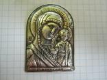 Иконка Казанская БМ серебро., фото №8