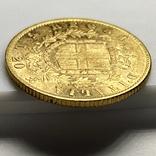 20 лир. 1863. Витторио Эмануэле II. Италия (золото 900, вес 6,43 г), фото №8