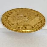 20 лир. 1882. Умберто I. Италия. (золото 900, вес 6,47 г), фото №11