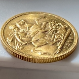 1 фунт (соверен). 1906. Эдуард VII. Великобритания (золото 917, вес 8,00 г), фото №11