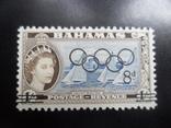 Британские колонии. Багамы. Надпечатка олимпиады. MLH, фото №2