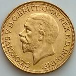 1 фунт (соверен). 1931. Георг V. Великобритания (проба 917, вес 8,00 г), фото №2