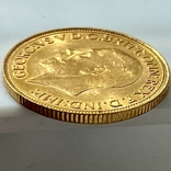 1 фунт (соверен). 1931. Георг V. Великобритания (проба 917, вес 8,00 г), фото №12