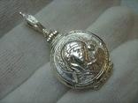 Серебряный Кулон Подвеска с Секретом Локет Открывающийся Тайник Богородица 925 проба 297
