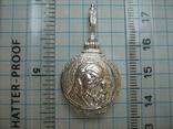 Серебряный Кулон Подвеска с Секретом Локет Открывающийся Тайник Богородица 925 проба 297, фото №5