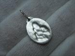 Серебряный Кулон Подвеска Образок Ладанка Богородица Иисус Христос Серебро 925 проба 681, фото №3