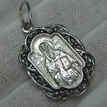 Новый Серебряный Кулон Ладанка Святой Алексей Алезий Серебро 925 проба 683