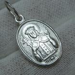 Серебряный Кулон Подвеска Образок Ладанка Святая Ирина Серебро 925 проба 677