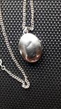 Срібний локет на ланцюжку, фото №4