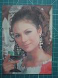 Стерео открытка времен СССР. Девушка. 2, фото №3