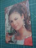 Стерео открытка времен СССР. Девушка. 2, фото №4