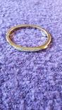 Браслет золотого тону з кристалами MS, фото №2