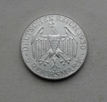 1930 г - 5 марок Германии,Цеппелин,серебро, фото №3