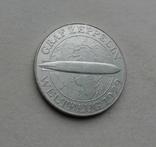 1930 г - 5 марок Германии,Цеппелин,серебро, фото №8