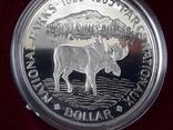 1 доллар, Канада, 1985 год, 100 лет Национальным паркам, серебро, в подарочной коробке, фото №6