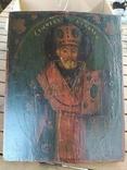 Икона Святой Николай (XIX) век, фото №5