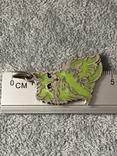 Серебряная подвеска Персидская кошка в эмалях (серебро 800 пр, вес 10,9 гр), фото №3