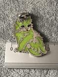 Серебряная подвеска Персидская кошка в эмалях (серебро 800 пр, вес 10,9 гр), фото №4