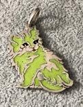 Серебряная подвеска Персидская кошка в эмалях (серебро 800 пр, вес 10,9 гр), фото №2