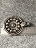 Серебряный массивный кулон (серебро 925 пр, вес 31,8 гр), фото №9