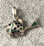 Серебряная подвеска Рыбка в эмалях (серебро 925 пр, вес 6,6 гр), фото №2