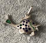 Серебряная подвеска Рыбка в эмалях (серебро 925 пр, вес 6,6 гр), фото №5