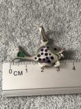 Серебряная подвеска Рыбка в эмалях (серебро 925 пр, вес 6,6 гр), фото №6