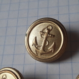 Пуговицы с якорем металл, 19 и 14 мм, фото №3