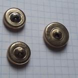 Пуговицы с якорем металл, 19 и 14 мм, фото №5