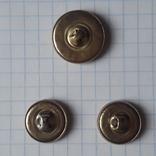 Пуговицы с якорем металл, 19 и 14 мм, фото №6