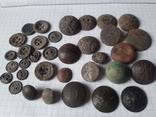 Пуговицы РИА и старинные, бронза сплав и т.д., 34 шт, фото №3