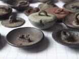 Пуговицы РИА и старинные, бронза сплав и т.д., 34 шт, фото №4
