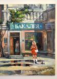 Картина, масло, холст, Дева и такси. Одесса 55х75 Автор Сергей Тюпо, фото №4