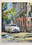 Картина, масло, холст, Дева и такси. Одесса 55х75 Автор Сергей Тюпо, фото №5