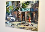 Картина, масло, холст, Дева и такси. Одесса 55х75 Автор Сергей Тюпо, фото №8
