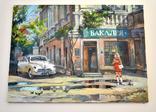 Картина, масло, холст, Дева и такси. Одесса 55х75 Автор Сергей Тюпо, фото №11