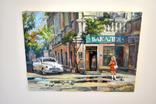 Картина, масло, холст, Дева и такси. Одесса 55х75 Автор Сергей Тюпо, фото №12